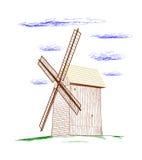 Moulin à vent rural. illustration stock
