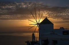 Moulin à vent, Santorini Images stock