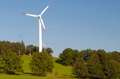 Moulin à vent solaire Image libre de droits