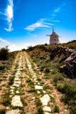 Moulin à vent sur une colline en Espagne Teruel, Image stock