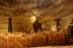 Moulin à vent tournant pour l'eau de pompage Images libres de droits