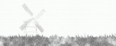 Moulin à vent traditionnel illustration stock