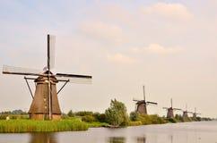 Moulin à vent traditionnel dans Kinderdijk Photographie stock