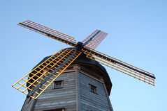 Moulin à vent traditionnel de la Hollande Photo libre de droits
