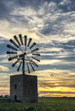 moulin à vent traditionnel en Majorque, Îles Baléares illustration stock