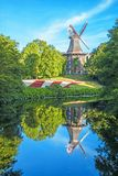 Moulin à vent - un point de repère de ville Brême, Allemagne Images libres de droits