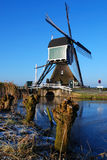 moulin à vent vert photo stock