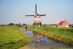 Moulin à vent. Volendam, Netherland Images stock
