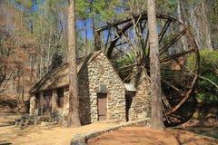 Moulin 1930 historique de blé à moudre de la Géorgie Photos stock