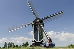 Moulin chez Batenburg Photographie stock libre de droits