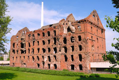 Moulin détruit par combat Volgograd de Stalingrad de panorama de musée photos libres de droits