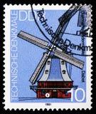 Moulin Dabel, monuments techniques : Serie de moulins à vent, vers 1981 image stock