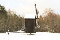 Moulin dans la neige Photographie stock libre de droits