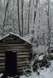 Moulin de baquet, neige photographie stock libre de droits