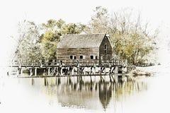 Moulin de blé à moudre Photographie stock libre de droits