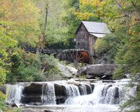 Moulin de blé à moudre au stationnement d'état Babcock Image libre de droits