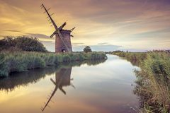 Moulin de Brograve, Norfolk R-U Photo libre de droits