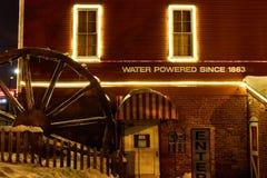 Moulin de cidre du Michigan en hiver photographie stock libre de droits