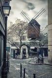 Moulin de la Galette in Montmartre, Parigi, Francia Fotografia Stock Libera da Diritti