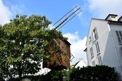 Moulin de la Galette Montmartre, Parigi, Francia fotografie stock