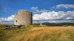 Windmill of the Mure - Vassieux-en-Vercors - Drome (France) Stock Image