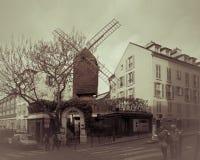 Moulin De Los angeles Galette w Paryż Zdjęcie Royalty Free