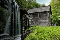 Moulin de Mingus de parc national de Great Smoky Mountains Photo libre de droits