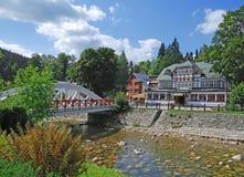 Moulin de Spindler, montagnes géantes, République Tchèque Photographie stock libre de droits