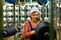 Moulin de tissage en Russie Photos stock