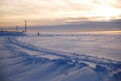 Moulin de vent le soir photo libre de droits
