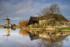 Moulin 'de Vriendschap' dans Bleskensgraaf Photographie stock libre de droits