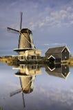 Moulin 'de Vriendschap' dans Bleskensgraaf Photos libres de droits