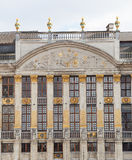 Moulin eine Entlüftungsöffnung im großartigen Platz in Brüssel Lizenzfreies Stockfoto