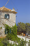 Moulin grec image libre de droits