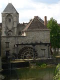 Moulin, Moret-sur-Loing ( France ) Stock Photo