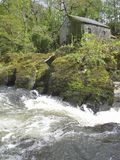 Moulin par la rivière Photos libres de droits