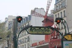 moulin paris rouge Στοκ φωτογραφίες με δικαίωμα ελεύθερης χρήσης