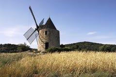 Moulin parmi des grains Images libres de droits