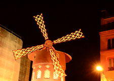Moulin Rogue Windmill, Paris stock video footage