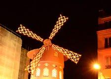 Moulin Rogue Windmill, Paris stock video footage