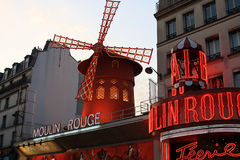 Moulin Rouge. Cabaret in Paris, France Royalty Free Stock Photo