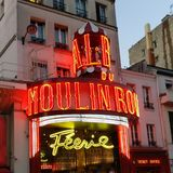 Moulin Rouge Arkivfoto