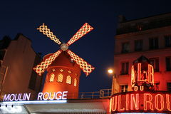 Moulin Rouge. A nice view of Moulin Rouge Stock Image