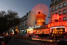 Moulin Rouge At Night Royalty Free Stock Image