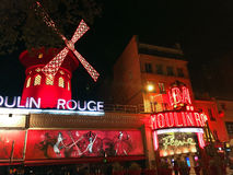 Moulin Rouge Cabaret Royalty Free Stock Photography