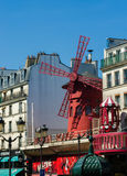 Moulin Rouge Cabaret famous red mill on June 5 i Royalty Free Stock Photo