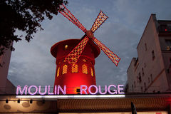 Moulin Rouge Cabaret Paris France. Moulin Rouge cabaret in Monmarte, Paris stock images