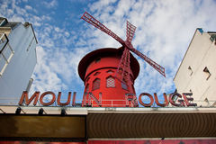 Moulin Rouge cabaret. Paris, France. Royalty Free Stock Photo