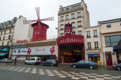 Moulin Rouge cabaret in Paris, France. Moulin Rouge cabaret in Montmartre, Paris royalty free stock image