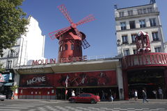 Moulin Rouge Cabaret, Paris Stock Image